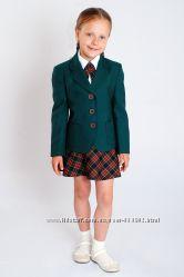Пиджак школьный для девочки зеленый. Распродажа