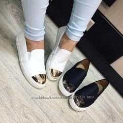 Слипоны металический носок