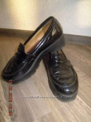 Туфли на тракторной подошве, кожа под лаком, р. - 37 стелька 24 см
