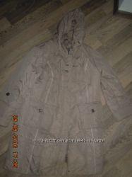 Пальто зимнее на синтепоне, женское р. - 58, с капюшоном