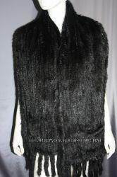 Норковый шарф палантин 40х185см