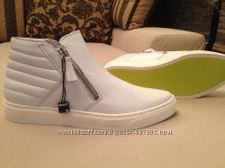 Хайтопы ботинки белые кожаные bronx Нидерланды