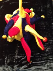 Шапочка для костюма арлекина с бубенчиками и лампочками
