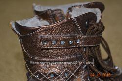 Кожаные сапожки для модницы