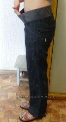 Офисные брюки для беременных XS  на рост 160 см
