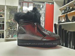 Ботинки Зима Бронза с опушкой