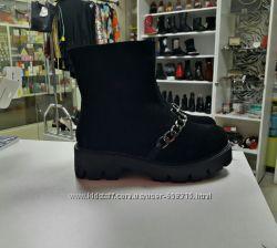 Ботинки Натур Замша Цепочка