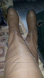 сапоги кожаные европейка евро-зима 37 размер