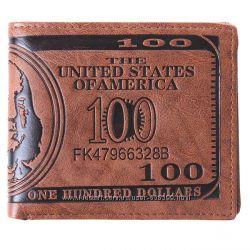 Мужской кошелек 100 Долларов портмоне бумажник