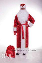 Шикарный костюм Деда Мороза, на стеганой подкладке