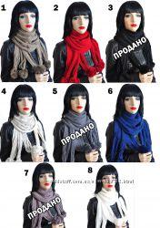 Женские класнючие шарфики с бубонами