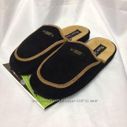 Черные мужские тапочки с анатомической подошвой