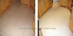 Механическая чистка напольной плитки. Чистка плитки после строительных работ