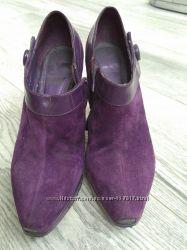 Фиолетовые замшевые ботильоны, 38 размер
