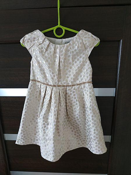 Золотистое платье для девочки на 5 лет
