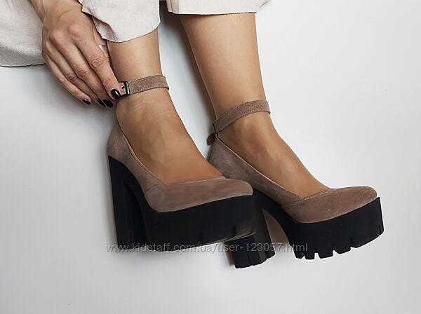 Туфли замшевые 36 размер, натуральные