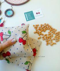 Антиколиковая грелка-подушка с вишневыми косточками. Цена от производителя