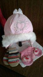 Зимняя шапочка для девочки и подарочек