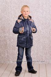 Стильная Куртка-парка для мальчика утепленная Модный карапуз