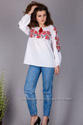 Блуза Трояндова долина поплин до 56 размера