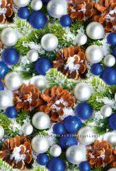 Новогодняя бумага почти даром в рулонах и листах