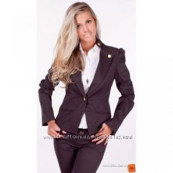 Пиджак черный с  длинным рукавом в размере 42