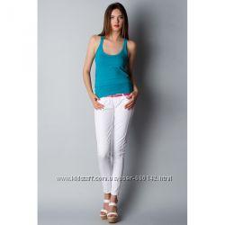 Белые зауженные брюки размер 34 ЛЕТО Bershka