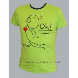 Парная футболка Love Story мужская в салатовом цвете размер 48L