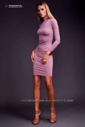 Трикотажное  платье с одним рукавом  Ветру лиловое распродажа