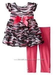 Нарядный новый костюм Youngland для девочки -платьетуникалосины