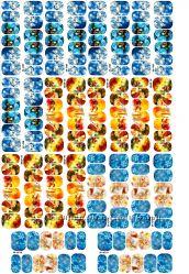 Слайдер дизайн  водный для ногтей лист А4