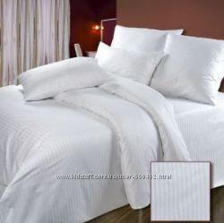 Шикарное постельное белье Сатин-страйп, высокое качество по доступным ценам
