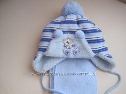 Зимняя шапочка с шарфом