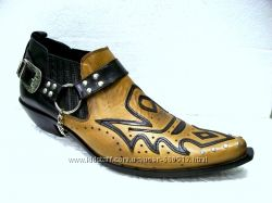 Красивые песочные Казаки Etor мужские туфли на кожаной подошве
