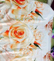 Двуспальный комплект постельного белья Нежная Роза 3D