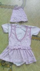 Бодик-платье с косыночкой, рост 62