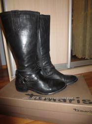 Сапоги кожаные деми Tamaris 40 размер
