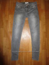 Джинсы серые узкие Mango размер 38