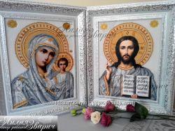 Набор для вышивки Венчальная пара Икона Господа и Казанская