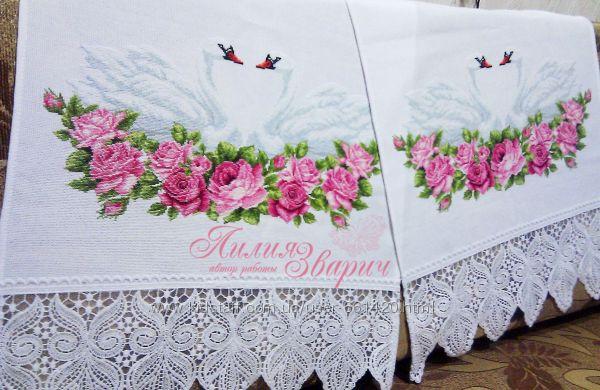 Для свадьбы рушник своими руками схемы