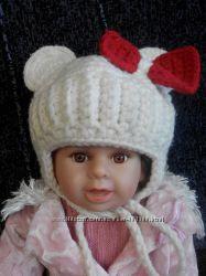 шапка зимняя минни маус для девочки