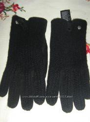 Перчатки замша шерсть