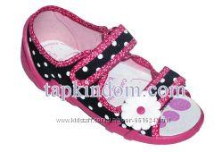 Текстильная обувь с открытым носком. Польских производителей
