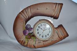 Часы настенные из кожи