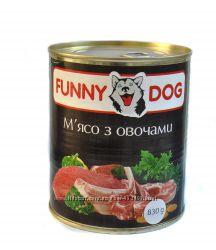 Консерва для собак FUNNY DOGАКЦИЯ