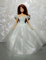 Платье для куклы Барби свадебное