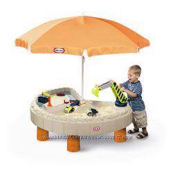Столик для песка с зонтом Веселая стройка Little Tikes 401N
