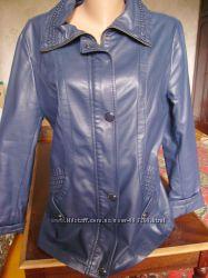 Куртка деми из искусственной кожи