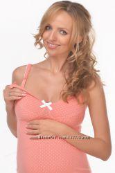Ночная рубашка Коралл для беременных и кормящих. Хит продаж