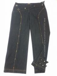 Брюки-джинсы три четверти плотные